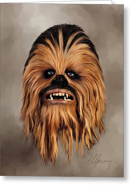 The Wookiee Greeting Card by Michael Greenaway