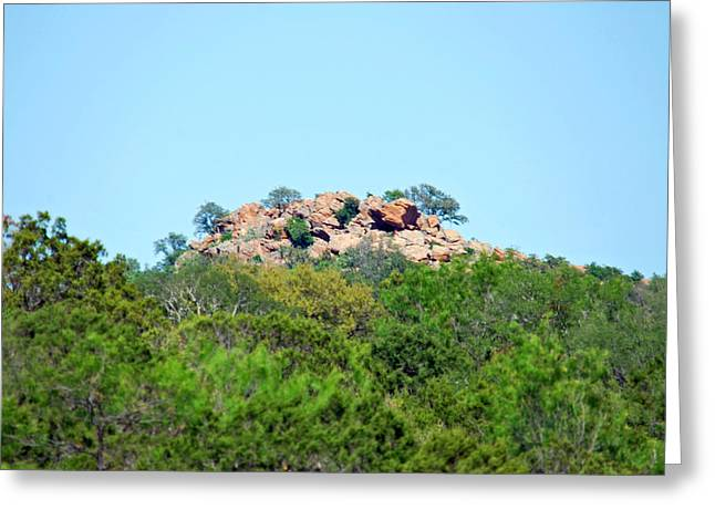 Greeting Card featuring the photograph The World Above by Teresa Blanton