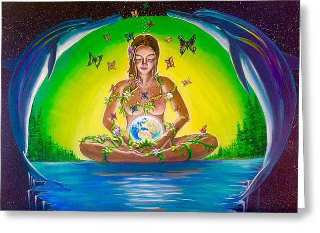 The World Held In Her Womb Greeting Card