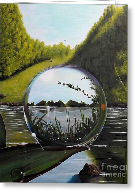 The World In A Droplet Greeting Card
