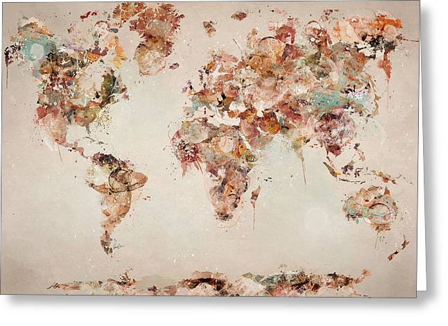 The World Map Greeting Card