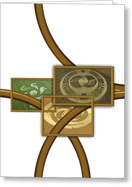 The World Of Crop Circles By Pierre Blanchard Greeting Card