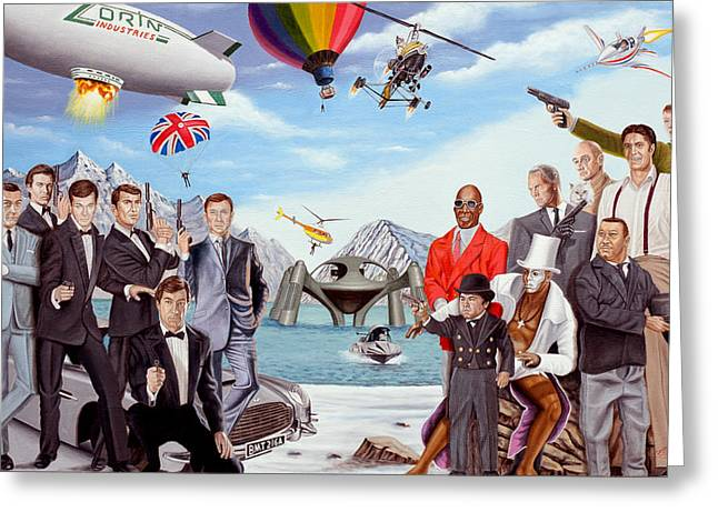 The World Of James Bond 007 Greeting Card by Tony Banos