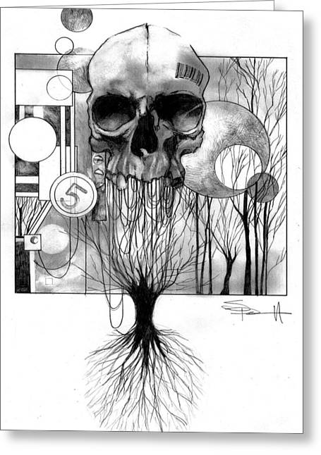 The World Tree Greeting Card by Sean Parnell