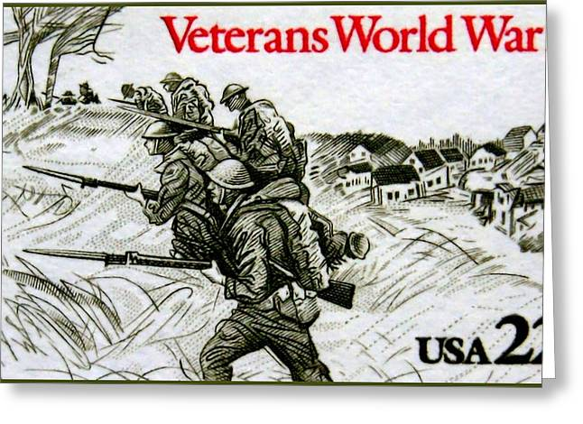 The World War 1 Veterans Stamp Greeting Card