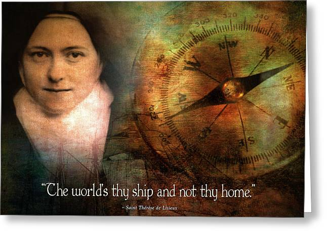 The World's Thy Ship And Not Thy Home. Greeting Card by Andy Schmalen