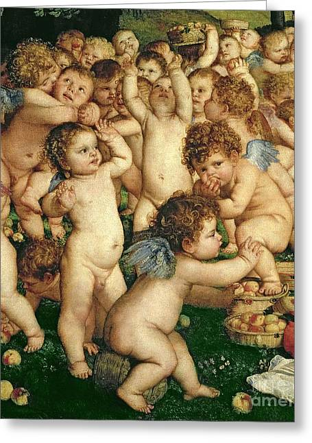 The Worship Of Venus Greeting Card by Titian