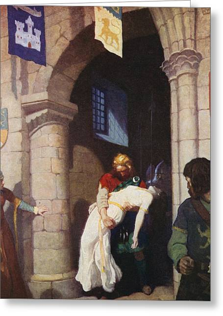 The Wounded Helen Greeting Card by Newell Convers Wyeth