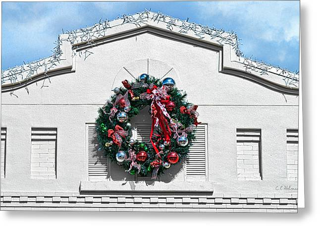 The Wreath Greeting Card by Christopher Holmes