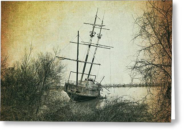 The Wreck Of La Grande Hermine Greeting Card by Bill Cannon