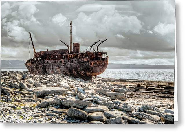 The Wreck Of Plassey Greeting Card