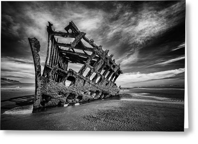 The Wreck Of The Peter Iredale Greeting Card
