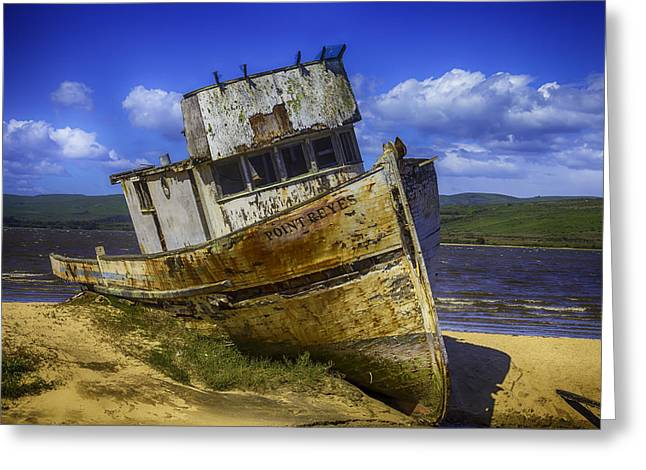 The Wreck Of The Point Reyes Greeting Card by Garry Gay