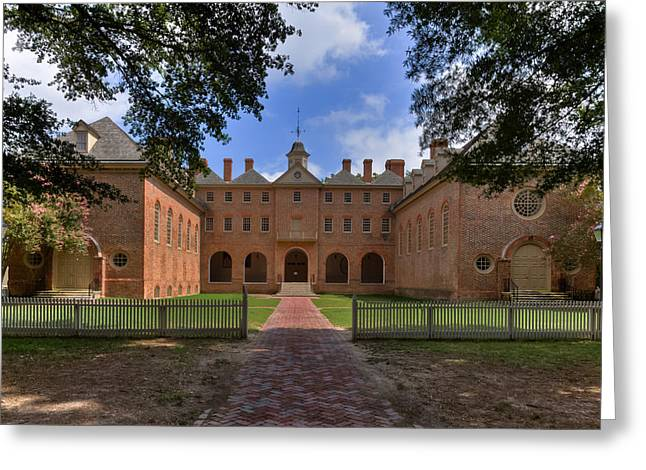 The Wren Building At William And Mary Greeting Card by Jerry Gammon