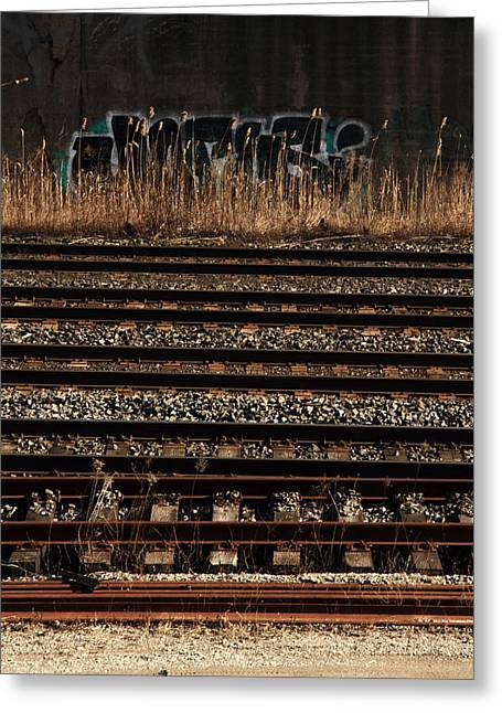 The Wrong Side Of The Tracks Greeting Card by Kreddible Trout