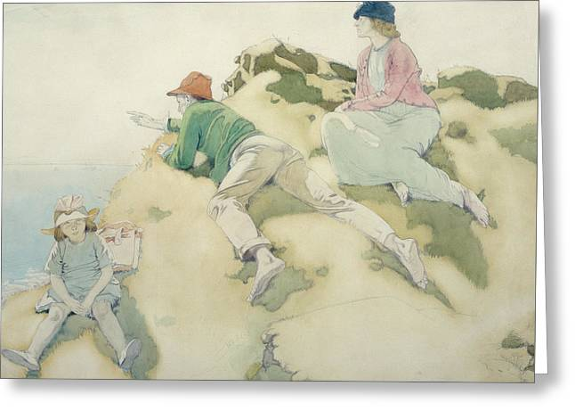 The Yacht Race Greeting Card by Sir William Orpen