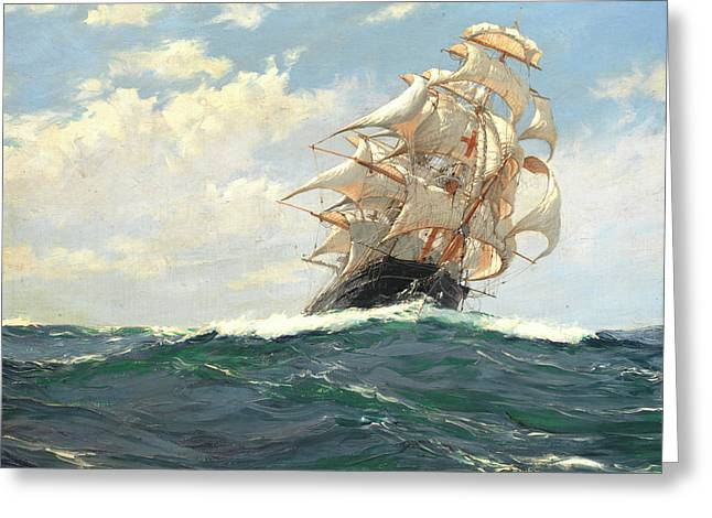 The Yankee Packet Dreadnought Greeting Card by Montague Dawson