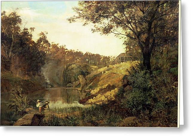 The Yarra, Studley Park Greeting Card by Frederick McCubbin