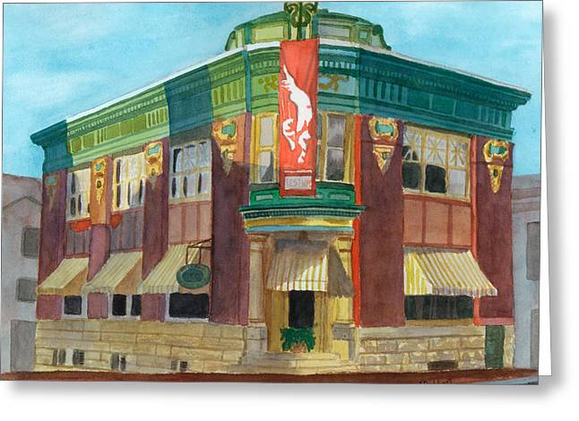 The Yellow Brick Bank Restaurant Greeting Card