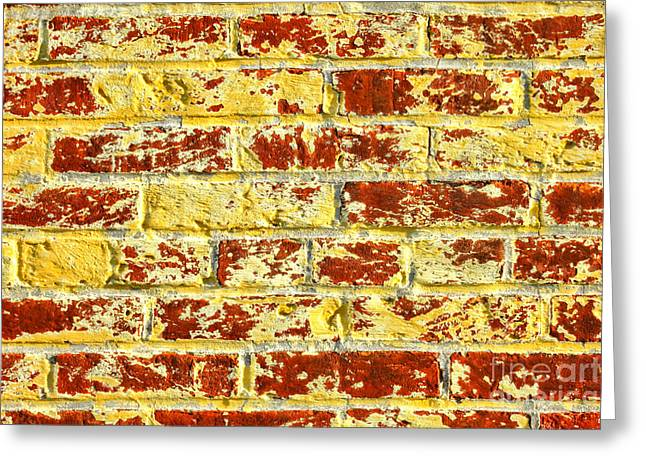 The Yellow Brick Wall Greeting Card by Olivier Le Queinec