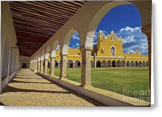 The Yellow City Of Izamal, Mexico Greeting Card
