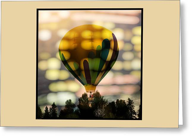 The Yellow Hot Air Balloon Greeting Card
