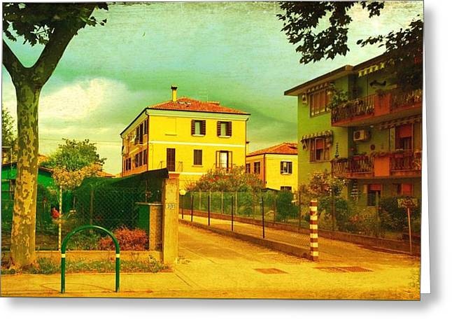 Greeting Card featuring the photograph The Yellow House by Anne Kotan