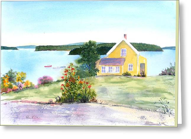 The Yellow House Greeting Card