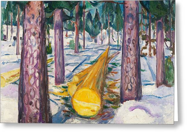 The Yellow Log Greeting Card by Edvard Munch