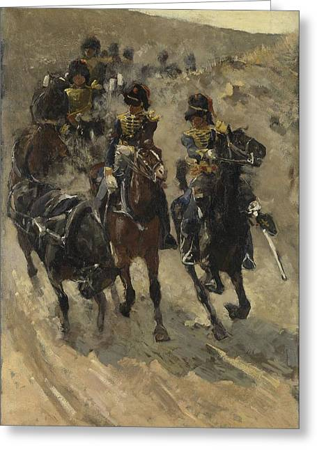 The Yellow Riders, George Hendrik Breitner, 1885 - 1886 Greeting Card