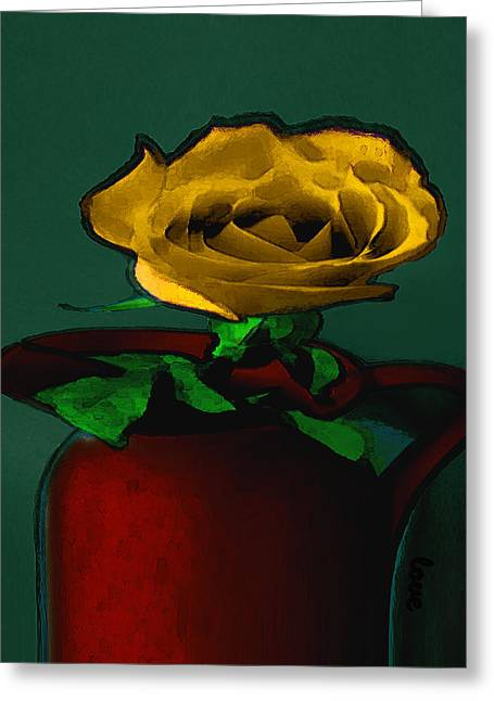 The Yellow Rose Painting Greeting Card