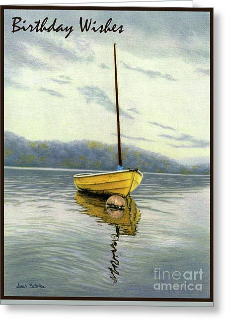 The Yellow Sailboat- Birthday Wishes Cards Greeting Card by Sarah Batalka