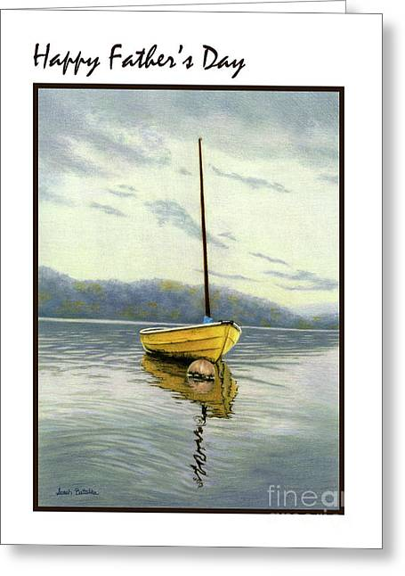 The Yellow Sailboat- Father's Day Cards Greeting Card by Sarah Batalka