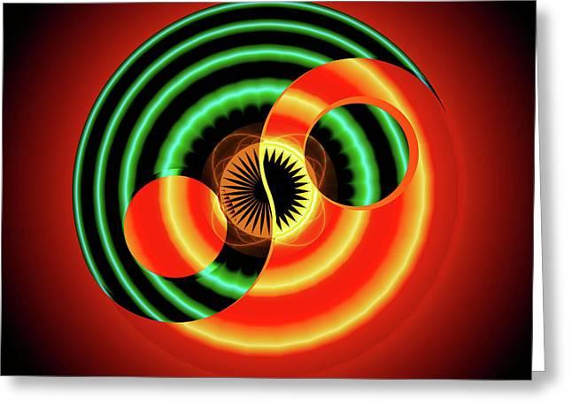 The Yin And The Yang Greeting Card by Mario Carini