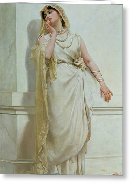 Reverie Paintings Greeting Cards - The Young Bride Greeting Card by Alcide Theophile Robaudi