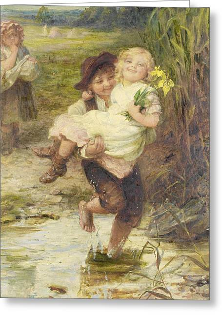 The Young Gallant Greeting Card by Fred Morgan