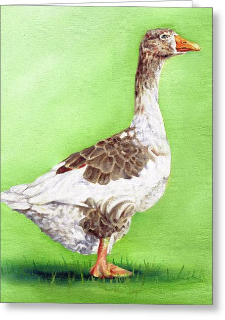 The Young Goose Greeting Card