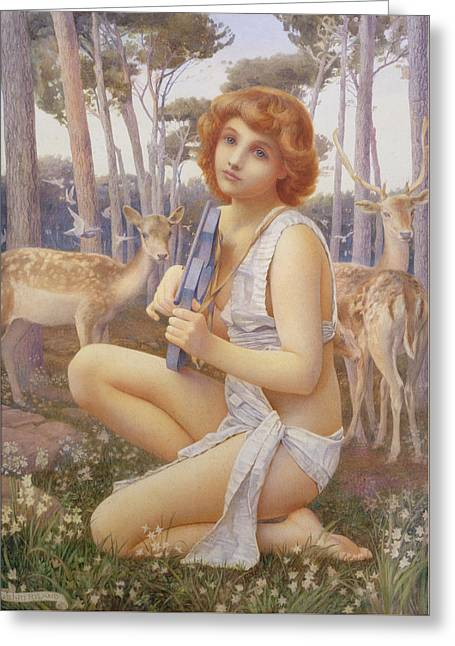 The Young Orpheus Greeting Card