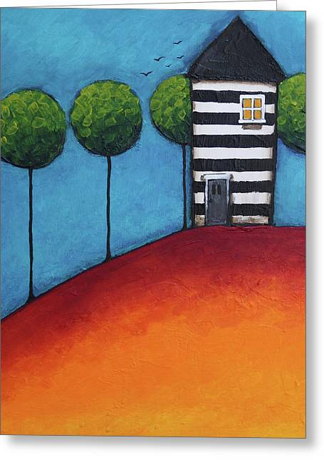 The Zebra House Greeting Card