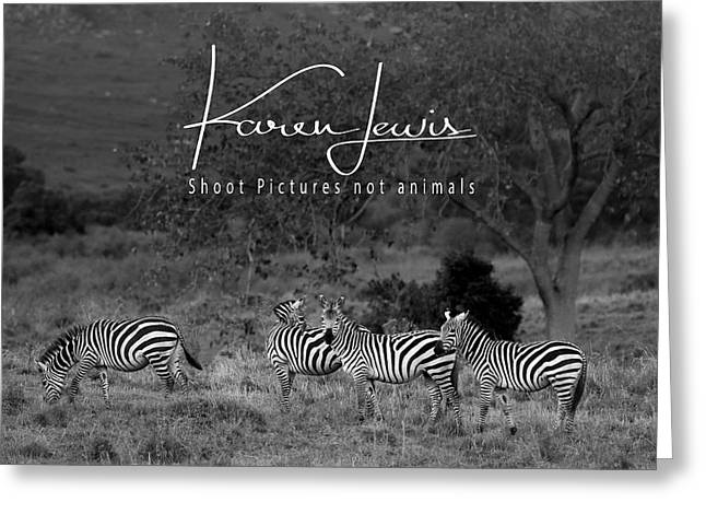 Greeting Card featuring the photograph The Zebra Tree by Karen Lewis