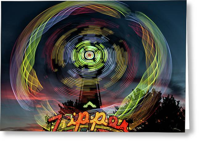 The Zipper Motion Art By Kaylyn Franks Greeting Card