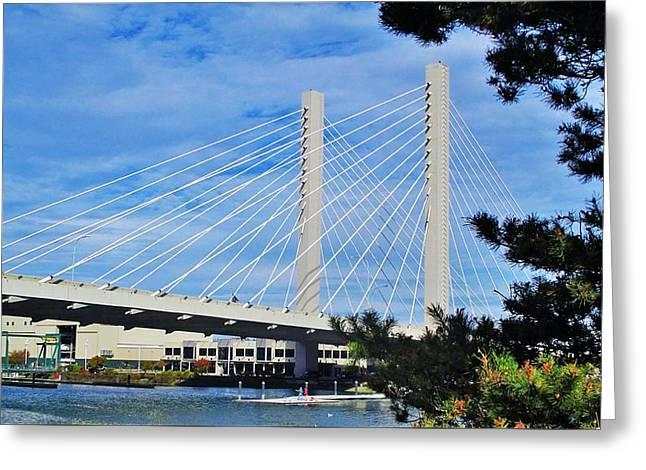 Thea Foss Bridge  Greeting Card by Martin Cline