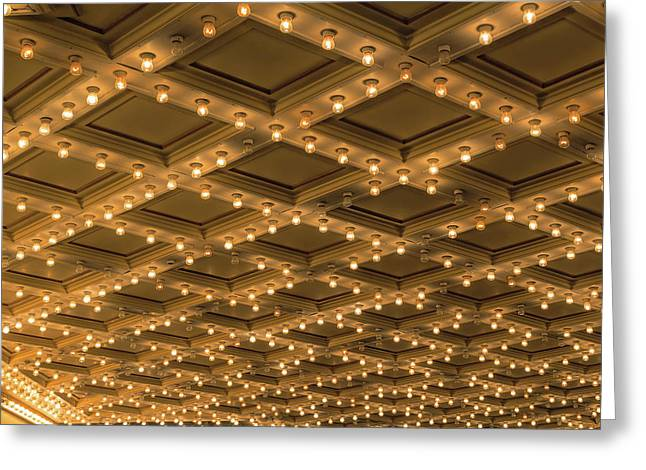 Theater Ceiling Marquee Lights Greeting Card by David Gn