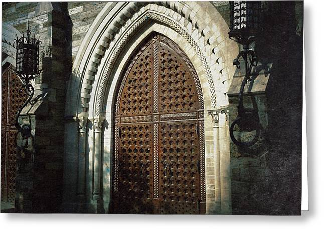 Bryn Mawr Greeting Cards - Theater Doors Greeting Card by David Ruser