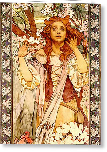 Theater Playbill 1909 Greeting Card by Padre Art