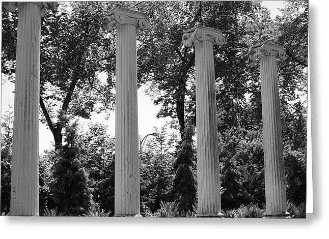 Theatre Columns Greeting Card by Sonja Anderson