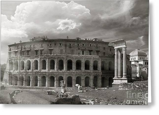 Theatre Of Marcellus Greeting Card by Stefano Senise
