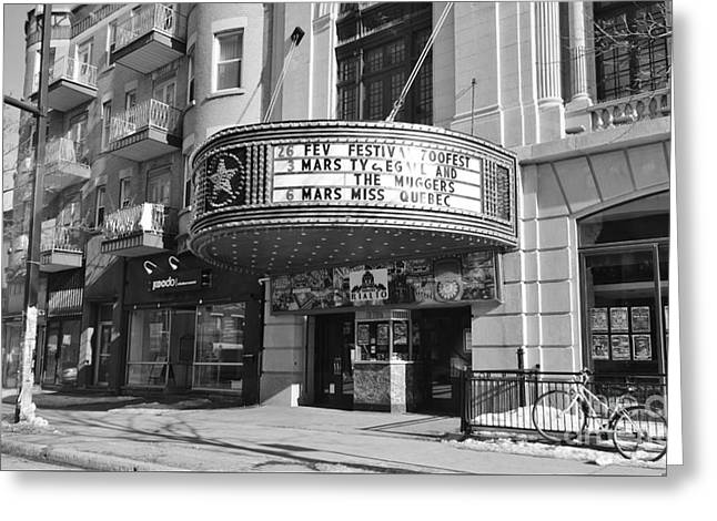 Theatre Rialto Montreal Greeting Card by Reb Frost
