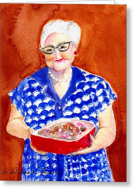 The Church Lady  Greeting Card by Deborah Burow