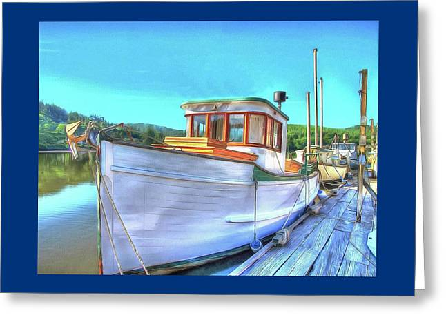 Thee Old Dragger Boat Greeting Card by Thom Zehrfeld